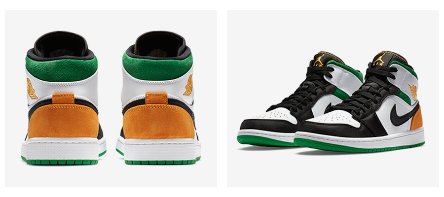 """Chicago"" a ""Oakland"" farebné kombinácie Air Jordan 1 Mid. foto 2"