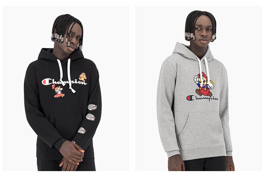 Mikiny Champion Hooded Sweatshirt x Super Mario Bros