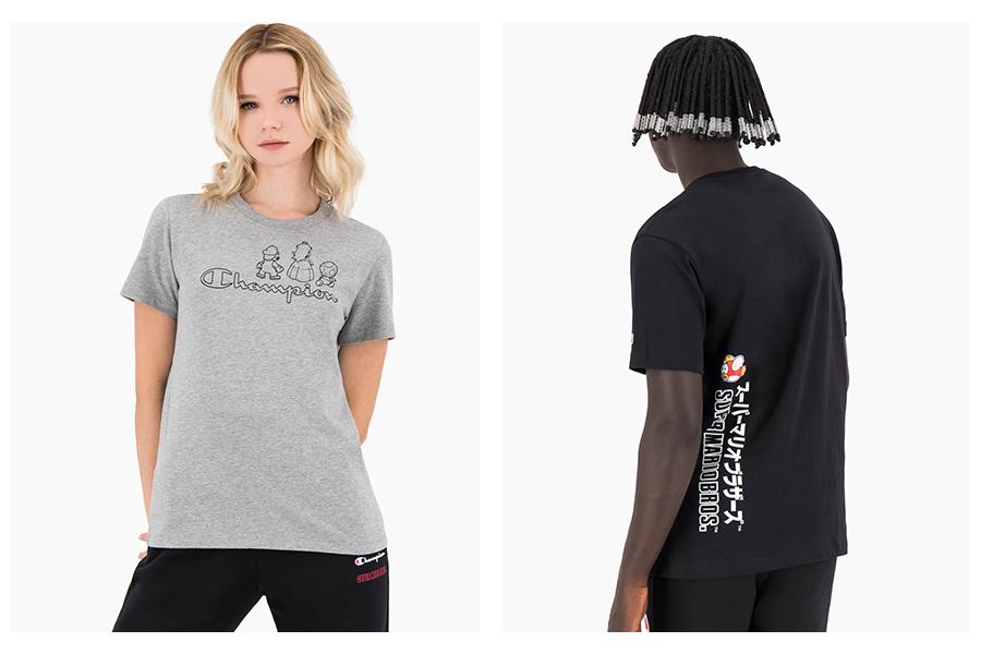Champion Crewneck T-Shirt x Super mario bros
