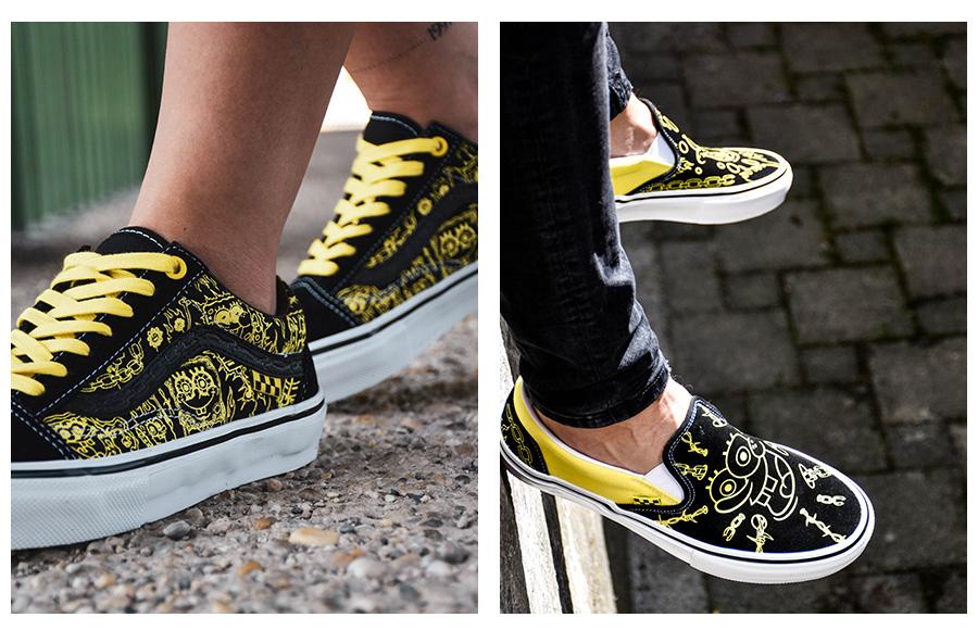 Cool žlto-čierne topánky foto2