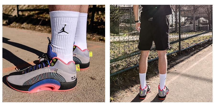 """Tenisky Air Jordan XXXV """"Center of Gravity"""" v štýlovom viacfarebnom prevedení foto 2"""
