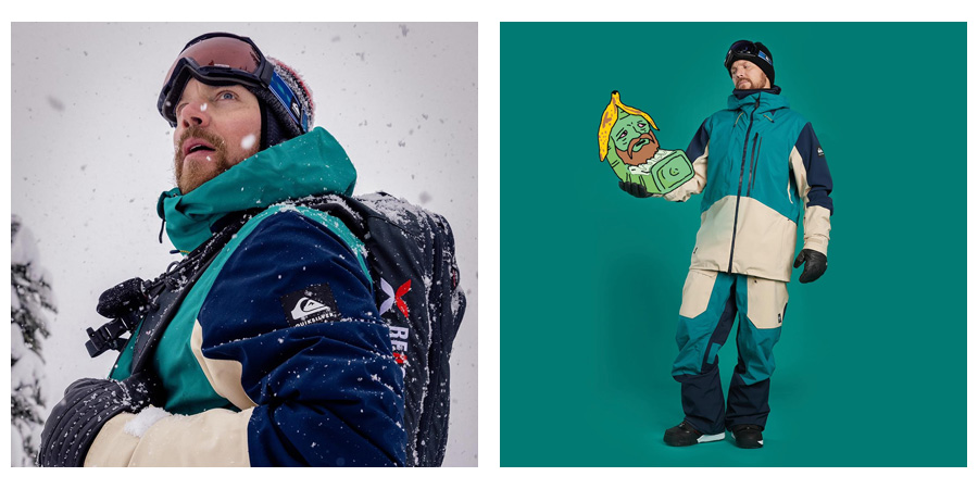 Quiksilver recyklovaný materiál snowboardové oblečenie
