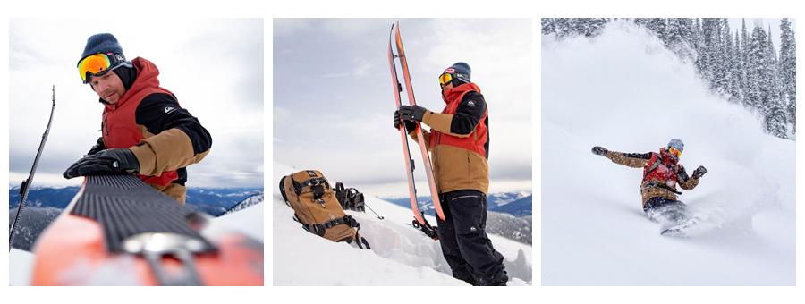 Snowboardista a sponzorovaný jazdec značkou Quiksilver Travis Tice