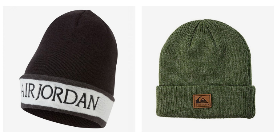 Nesmrteľné zimné čiapky Quiksilver, Roxy, Jordan, DC, New Era, Nike ...